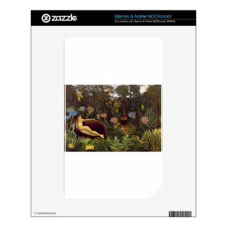Henri Rousseau la selva del sueño florece la pintu NOOK Color Calcomanía