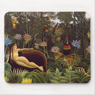 Henri Rousseau la selva del sueño florece la pintu Tapete De Raton