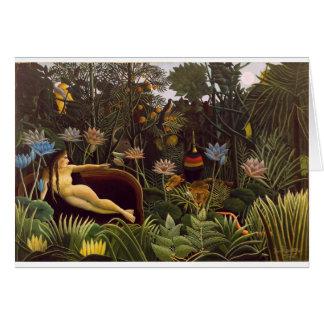Henri Rousseau la selva del sueño florece la pintu Tarjeta De Felicitación