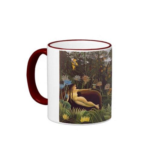Henri Rousseau la selva del sueño florece la pintu Tazas De Café