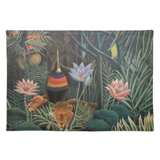 Henri Rousseau la selva del sueño florece Mantel