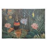Henri Rousseau la selva del sueño florece Mantel Individual