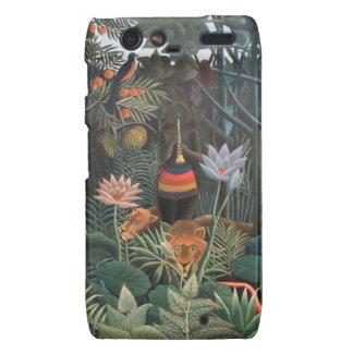 Henri Rousseau la selva del sueño florece surreali Droid RAZR Funda