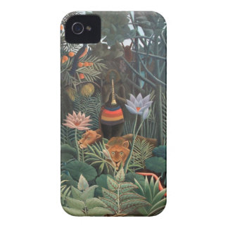 Henri Rousseau la selva del sueño florece surreali iPhone 4 Fundas