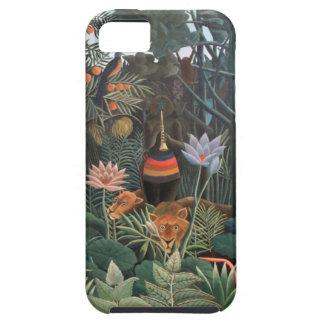 Henri Rousseau la selva del sueño florece surreali iPhone 5 Case-Mate Cárcasas