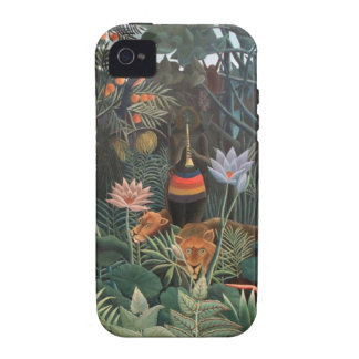 Henri Rousseau la selva del sueño florece surreali Case-Mate iPhone 4 Carcasa