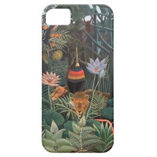 Henri Rousseau la selva del sueño florece surreali iPhone 5 Carcasas