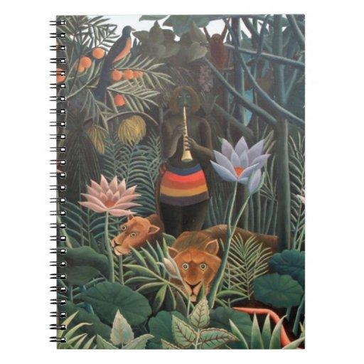 Henri Rousseau la selva del sueño florece surreali Libreta Espiral