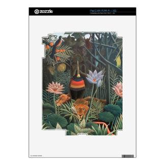 Henri Rousseau la selva del sueño florece surreali Calcomanía Para El iPad 2