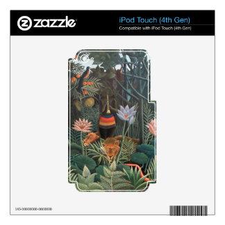 Henri Rousseau la selva del sueño florece surreali Calcomanía Para iPod Touch 4G