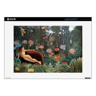 Henri Rousseau la selva del sueño florece surreali Portátil Calcomanía