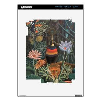 Henri Rousseau la selva del sueño florece surreali iPad 3 Pegatina Skin