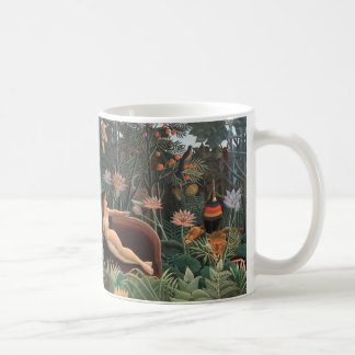 Henri Rousseau la selva del sueño florece Taza Básica Blanca
