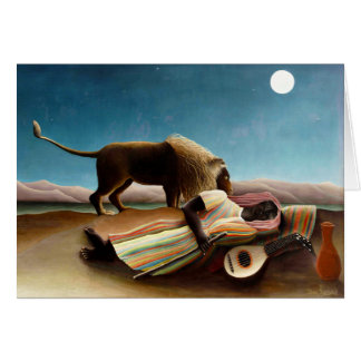 Henri Rousseau la tarjeta de nota gitana el dormir