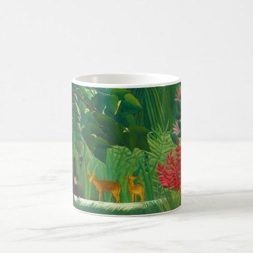 Henri Rousseau la taza de café de la cascada