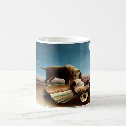 Henri Rousseau la taza gitana el dormir