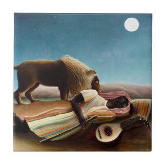 Henri Rousseau la teja gitana el dormir