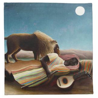 Henri Rousseau las servilletas gitanas el dormir