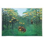 Henri Rousseau las zonas tropicales Placemat Manteles Individuales