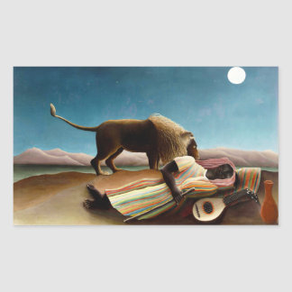 Henri Rousseau los pegatinas gitanos durmientes Pegatina Rectangular