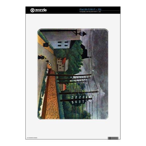 Henri Rousseau - Malakoff iPad Calcomanía