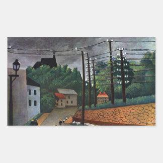 Henri Rousseau - Malakoff Pegatina Rectangular