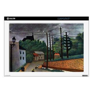 "Henri Rousseau - Malakoff 17"" Laptop Skins"