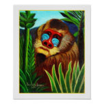 Henri Rousseau - mandril en la selva Impresiones