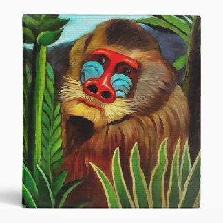 Henri Rousseau Mandrill In The Jungle Vintage Art 3 Ring Binder
