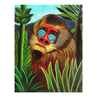 "Henri Rousseau Mandrill In The Jungle Vintage Art 8.5"" X 11"" Flyer"