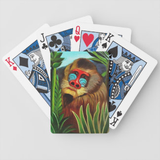 Henri Rousseau Mandrill In The Jungle Vintage Art Bicycle Playing Cards