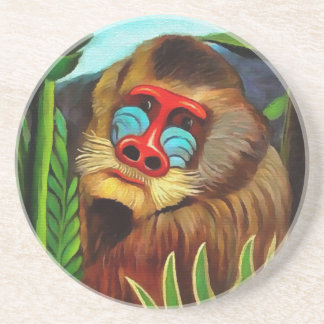 Henri Rousseau Mandrill In The Jungle Vintage Art Coaster