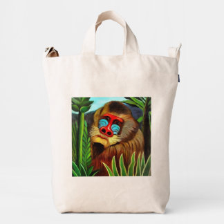 Henri Rousseau Mandrill In The Jungle Vintage Art Duck Bag