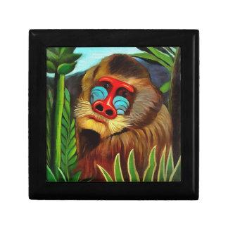 Henri Rousseau Mandrill In The Jungle Vintage Art Gift Box