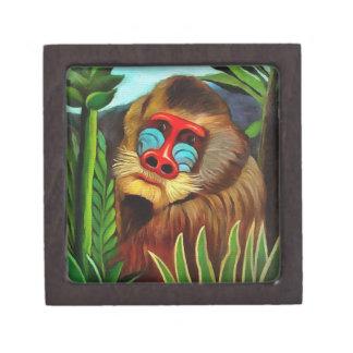 Henri Rousseau Mandrill In The Jungle Vintage Art Keepsake Box