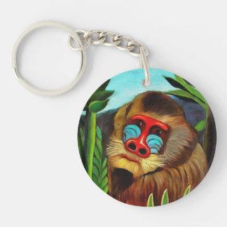 Henri Rousseau Mandrill In The Jungle Vintage Art Keychain