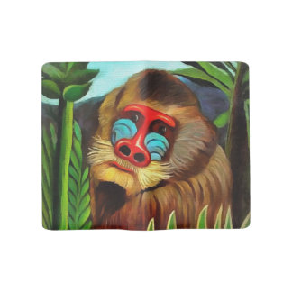 Henri Rousseau Mandrill In The Jungle Vintage Art Large Moleskine Notebook