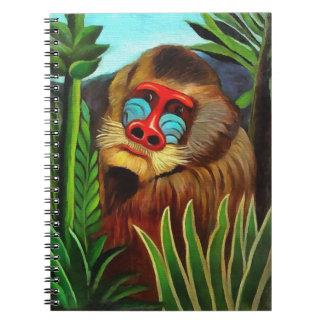 Henri Rousseau Mandrill In The Jungle Vintage Art Notebook