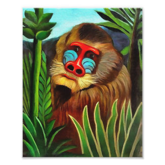 Henri Rousseau Mandrill In The Jungle Vintage Art Photo Print