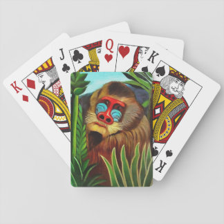 Henri Rousseau Mandrill In The Jungle Vintage Art Playing Cards