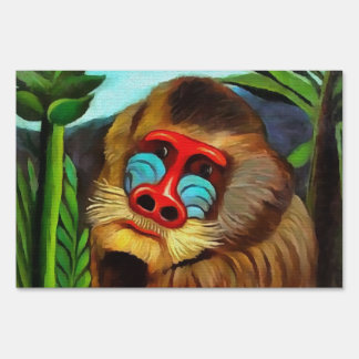 Henri Rousseau Mandrill In The Jungle Vintage Art Sign