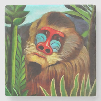 Henri Rousseau Mandrill In The Jungle Vintage Art Stone Coaster