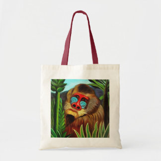 Henri Rousseau Mandrill In The Jungle Vintage Art Tote Bag