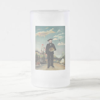 Henri Rousseau - Myself Frosted Glass Beer Mug