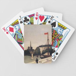 Henri Rousseau- Notre Dame View of Ile Saint Louis Bicycle Poker Cards