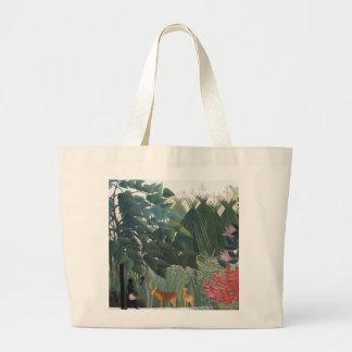 Henri Rousseau Painting Canvas Bag