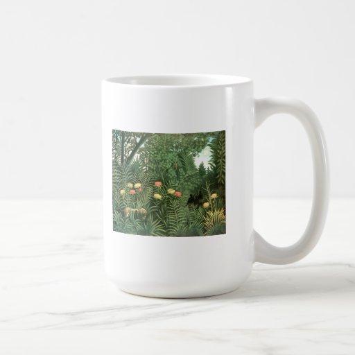 Henri Rousseau Painting Classic White Coffee Mug