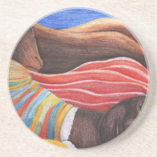 Henri Rousseau Painting Drink Coaster