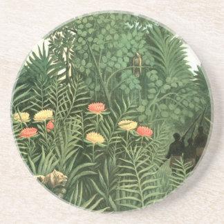Henri Rousseau Painting Drink Coaster