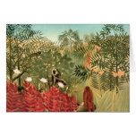 Henri Rousseau Painting Greeting Card